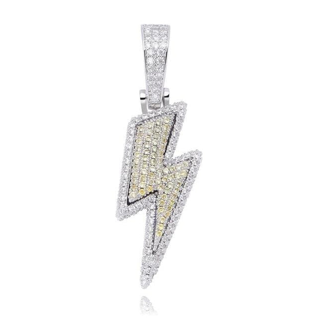 Iced Out Flash Double Layer Lightning Bolt Pendant - ICEY Jewelry - Iced Out High Quality Afforable Jewelry