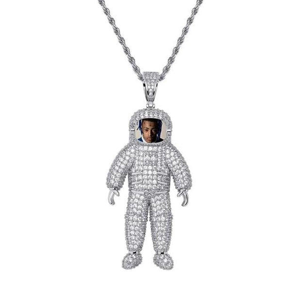 Custom Made Astronaut Photo Pendant - ICEY Jewelry - Iced Out High Quality Afforable Jewelry