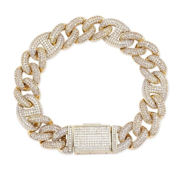 14mm Iced Out Gucci Link Cuban Bracelet