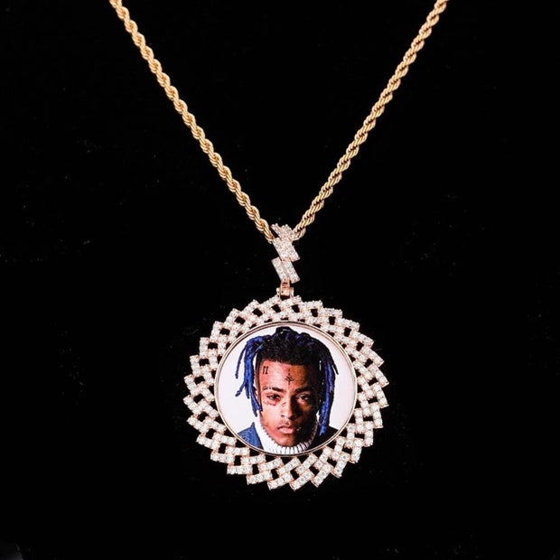 Custom Made Cuban Link PhotoPendant - ICEY Jewelry - Iced Out High Quality Afforable Jewelry