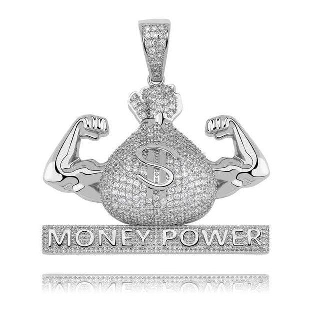 Iced Out US Dollar Money Power Pendant - ICEY Jewelry - Iced Out High Quality Afforable Jewelry