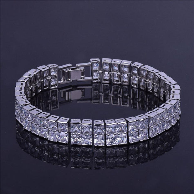 2 Row Tennis Chain - ICEY Jewelry - Iced Out High Quality Afforable Jewelry