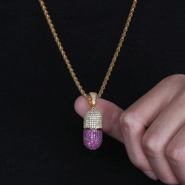 Pill Pendant - ICEY Jewelry - Iced Out High Quality Afforable Jewelry