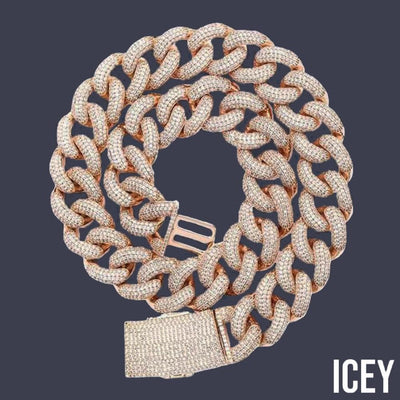 Box Clasp Micro Pave Iced CZ Cuban Link - ICEY Jewelry - Iced Out High Quality Afforable Jewelry