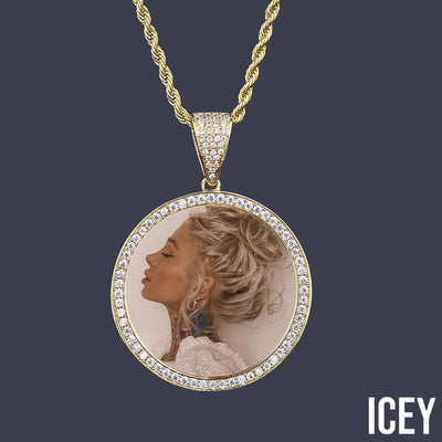 Custom Photo Memory Pendant - ICEY Jewelry - Iced Out High Quality Afforable Jewelry