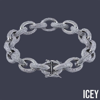 Charm Link Bracelet - ICEY Jewelry - Iced Out High Quality Afforable Jewelry