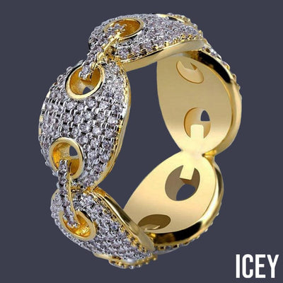 Iced Out Micro Pave Link Ring - ICEY Jewelry - Iced Out High Quality Afforable Jewelry