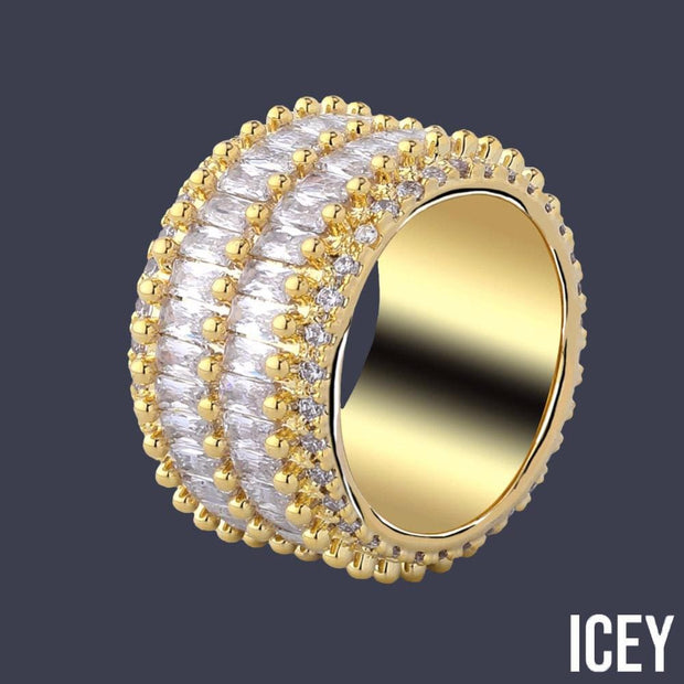 2 Row Solitaire Tennis Ring - ICEY Jewelry - Iced Out High Quality Afforable Jewelry