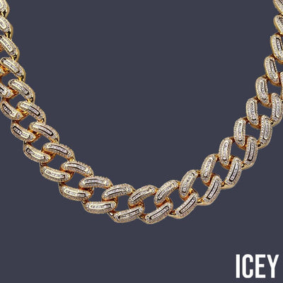 Baguette Miami Cuban Link Chain - ICEY Jewelry - Iced Out High Quality Afforable Jewelry