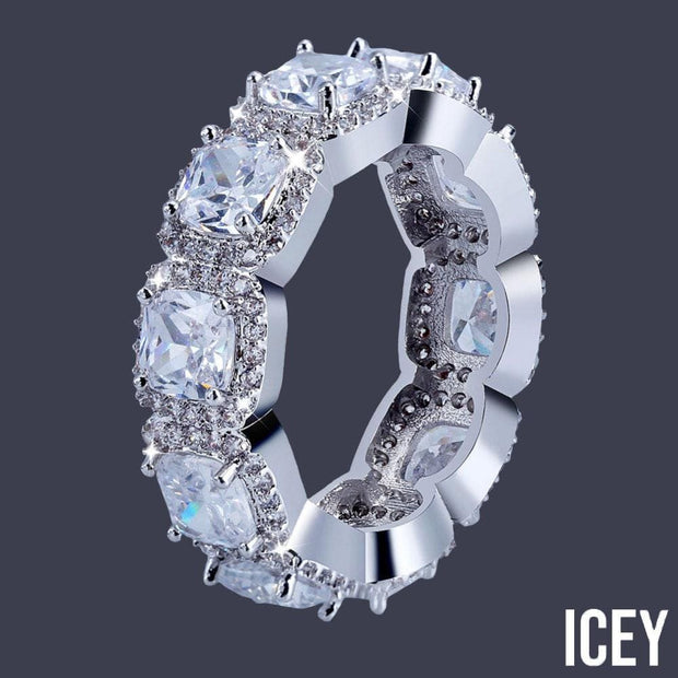 1 Row Double Stoned Zircon Ring - ICEY Jewelry - Iced Out High Quality Afforable Jewelry