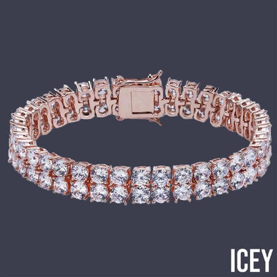 Double Layer Men Tennis Bracelet - ICEY Jewelry - Iced Out High Quality Afforable Jewelry