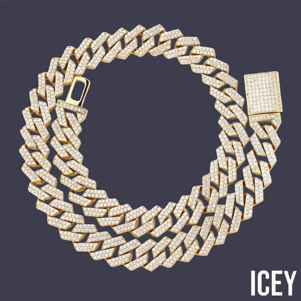16Inch-30Inch New Lock Clasp 14mm Heavy Iced Out Cuban Link Chain - ICEY Jewelry - Iced Out High Quality Afforable Jewelry