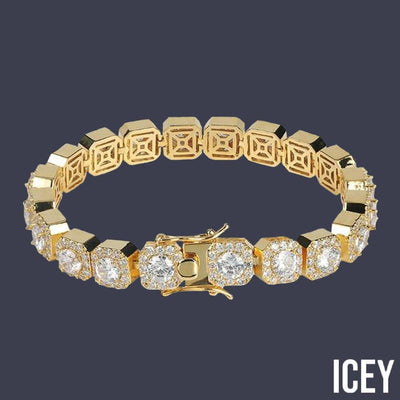 1 Row Square Tennis Bracelet - ICEY Jewelry - Iced Out High Quality Afforable Jewelry
