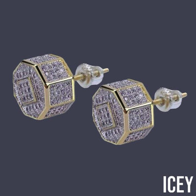 Iced Out Irregul Stud Earring For Men - ICEY Jewelry - Iced Out High Quality Afforable Jewelry