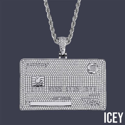 Iced Out VISA Credit Card Custom Name Pendant - ICEY Jewelry - Iced Out High Quality Afforable Jewelry