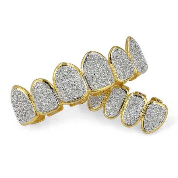 Classic 6/6 Hip Hop/Punk Grillz - ICEY Jewelry - Iced Out High Quality Afforable Jewelry