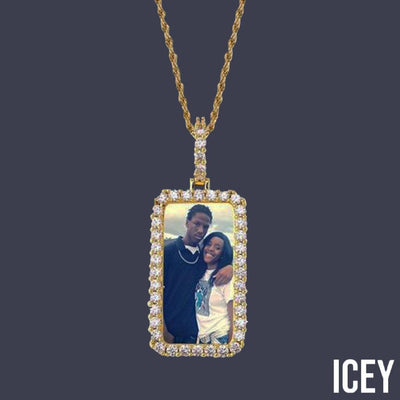 Custom Made Square Medallion Picture Pendant - ICEY Jewelry - Iced Out High Quality Afforable Jewelry