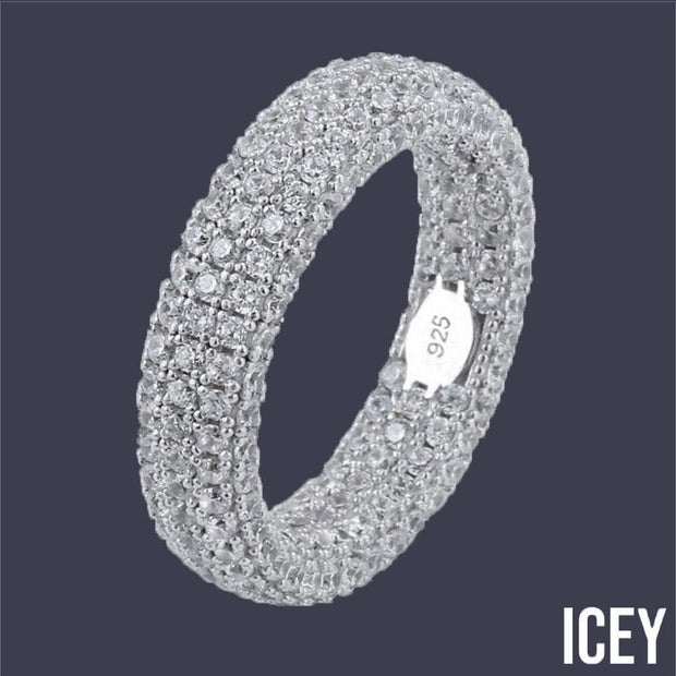 Fully Iced Out Stamp Ring - ICEY Jewelry - Iced Out High Quality Afforable Jewelry