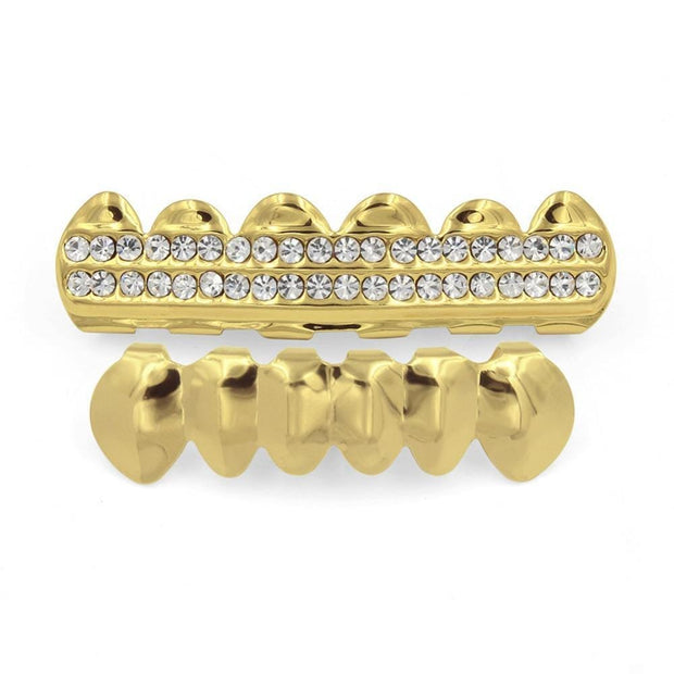 2 Row Iced Out Grillz - ICEY Jewelry - Iced Out High Quality Afforable Jewelry