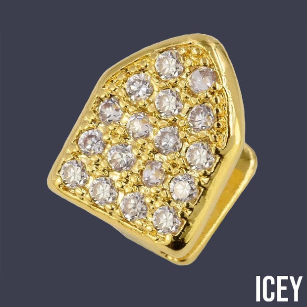 Single Cap Iced Out Grillz - ICEY Jewelry - Iced Out High Quality Afforable Jewelry