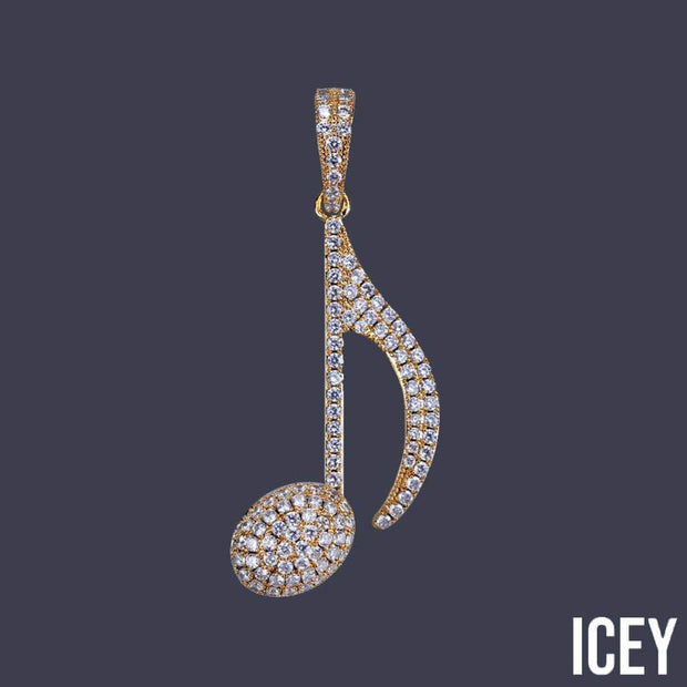 Hip Hop Musical Note Pendant - ICEY Jewelry - Iced Out High Quality Afforable Jewelry