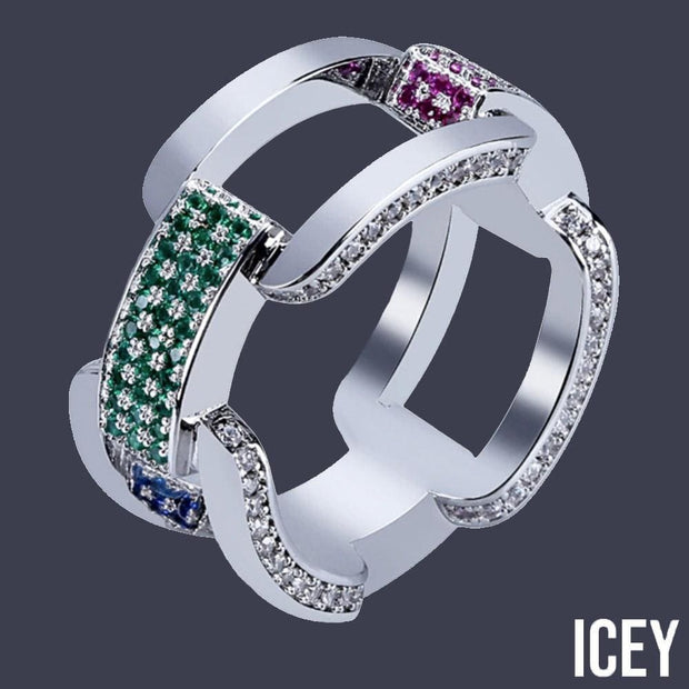 Iced Out Cubic Zircon Cuban Ring - ICEY Jewelry - Iced Out High Quality Afforable Jewelry