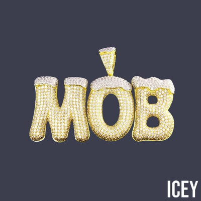 Iced Out Custom Snow Top Bubble Pendant - ICEY Jewelry - Iced Out High Quality Afforable Jewelry