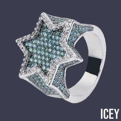 Iced Out Hexagon Star Ring - ICEY Jewelry - Iced Out High Quality Afforable Jewelry