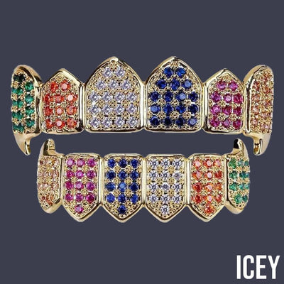 Colorful Vampire Fangs Grillz - ICEY Jewelry - Iced Out High Quality Afforable Jewelry