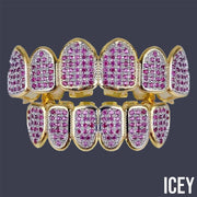 Purple Iced Out Grillz - ICEY Jewelry - Iced Out High Quality Afforable Jewelry