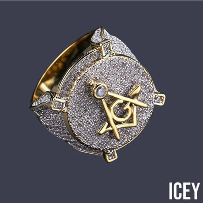 Freemason Ring - ICEY Jewelry - Iced Out High Quality Afforable Jewelry