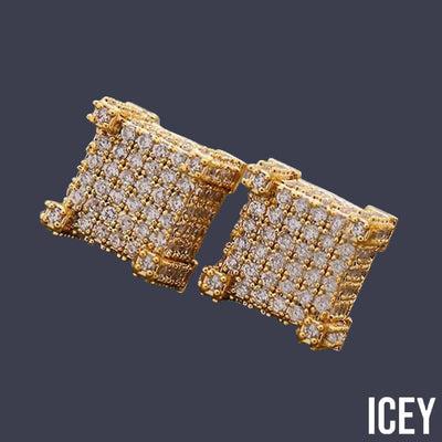 Micro Pave Square Stud Earring - ICEY Jewelry - Iced Out High Quality Afforable Jewelry