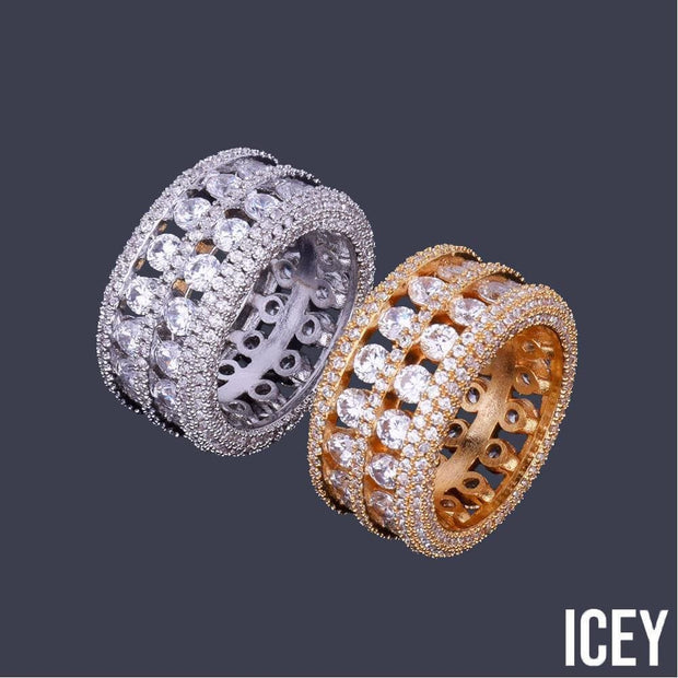 Flooded Out Double Layer Ring - ICEY Jewelry - Iced Out High Quality Afforable Jewelry