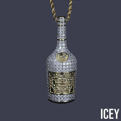 Wine Bottle Pendant - ICEY Jewelry - Iced Out High Quality Afforable Jewelry