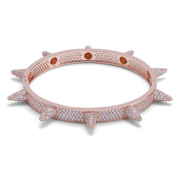 Iced Out Spikes Cuff Bangle Bracelet - ICEY Jewelry - Iced Out High Quality Afforable Jewelry