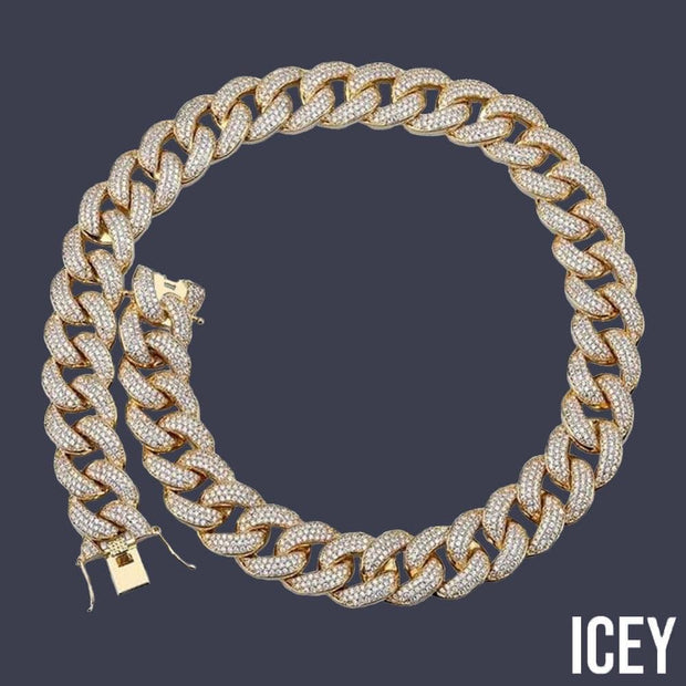 Miami Cuban Link Chain - ICEY Jewelry - Iced Out High Quality Afforable Jewelry