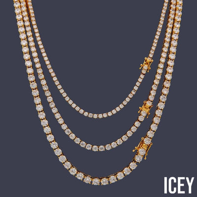 Round Cut Tennis Chain - ICEY Jewelry - Iced Out High Quality Afforable Jewelry