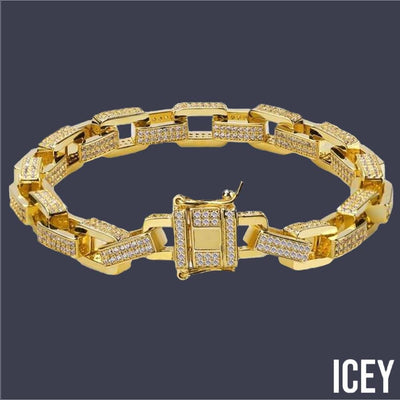 Link Iced Out Bracelet - ICEY Jewelry - Iced Out High Quality Afforable Jewelry