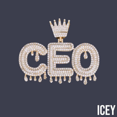 Custom Crown Bail Drip Bubble Pendant - ICEY Jewelry - Iced Out High Quality Afforable Jewelry