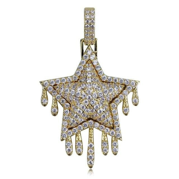 Star Drip Pendant - ICEY Jewelry - Iced Out High Quality Afforable Jewelry