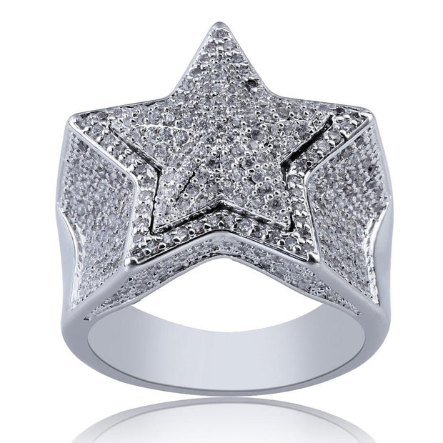 Five Pointer Star Ring - ICEY Jewelry - Iced Out High Quality Afforable Jewelry