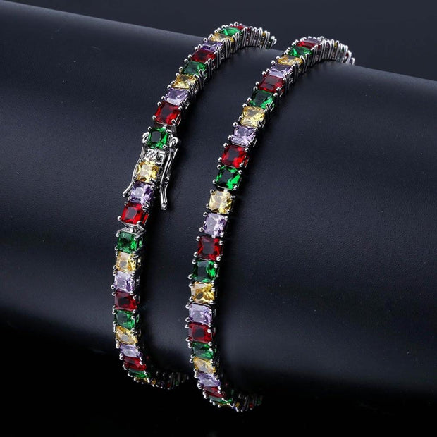 Colorful Tennis Chain Bracelet