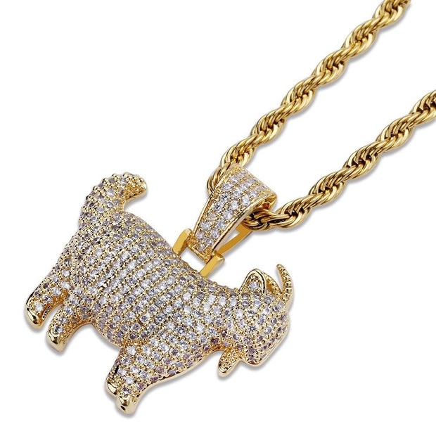 Iced Out GOAT Pendant - ICEY Jewelry - Iced Out High Quality Afforable Jewelry