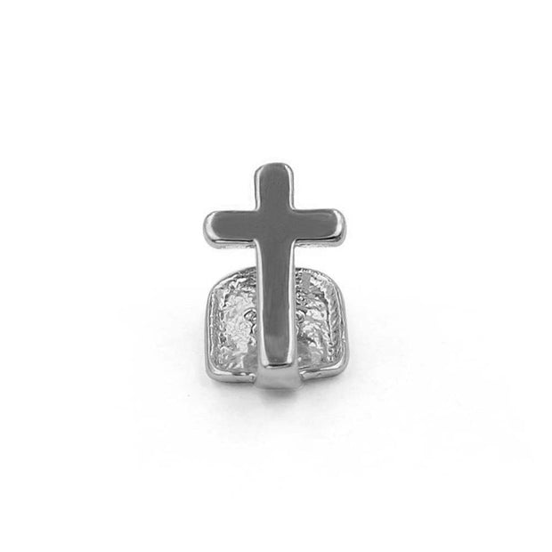 Single Cross Teeth Grillz - ICEY Jewelry - Iced Out High Quality Afforable Jewelry
