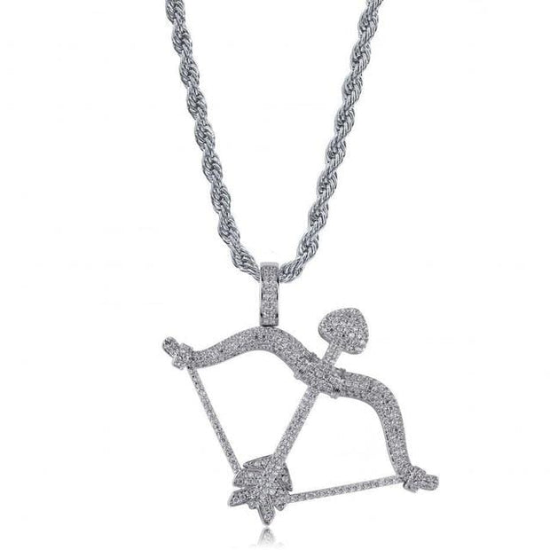 Bow & Arrow Pendant - ICEY Jewelry - Iced Out High Quality Afforable Jewelry