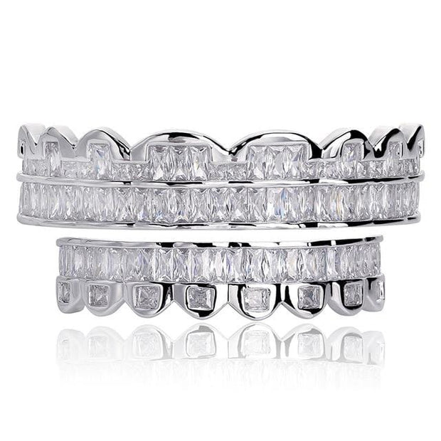 Baguette Set Teeth Grillz - ICEY Jewelry - Iced Out High Quality Afforable Jewelry