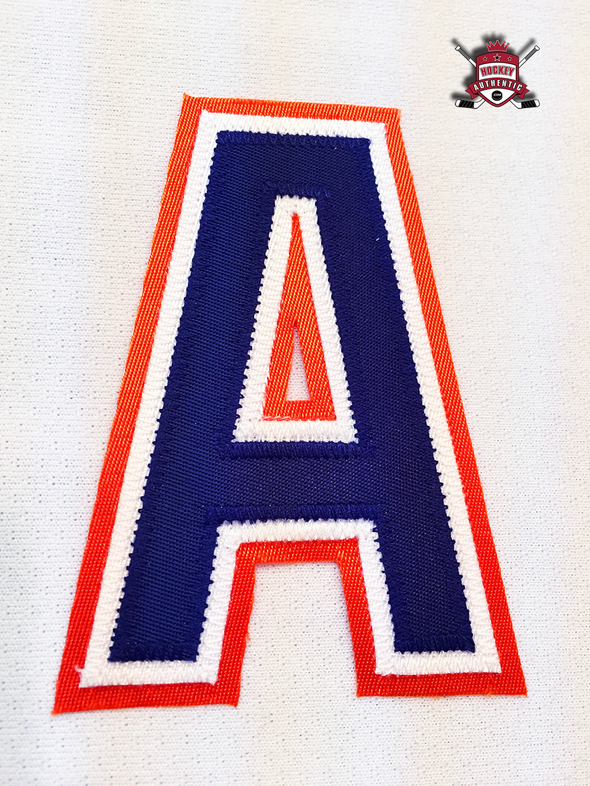"ALTERNATE ""A"" OFFICIAL PATCH FOR EDMONTON OILERS WHITE JERSEY - Hockey Authentic"