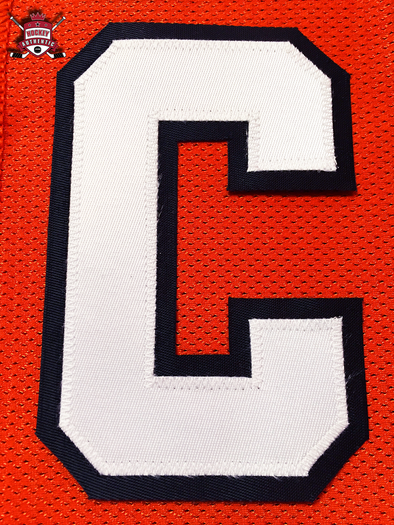 "CAPTAIN ""C"" OFFICIAL PATCH FOR PHILADELPHIA FLYERS ORANGE JERSEY - Hockey Authentic"