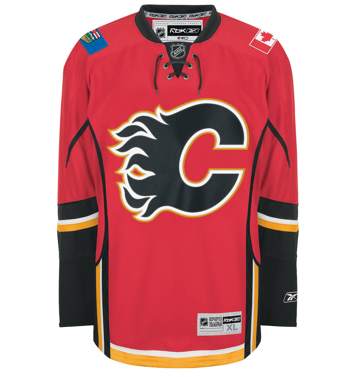 Captain C Official Patch For Calgary Flames Home 2003 17 Red Jersey Hockey Authentic