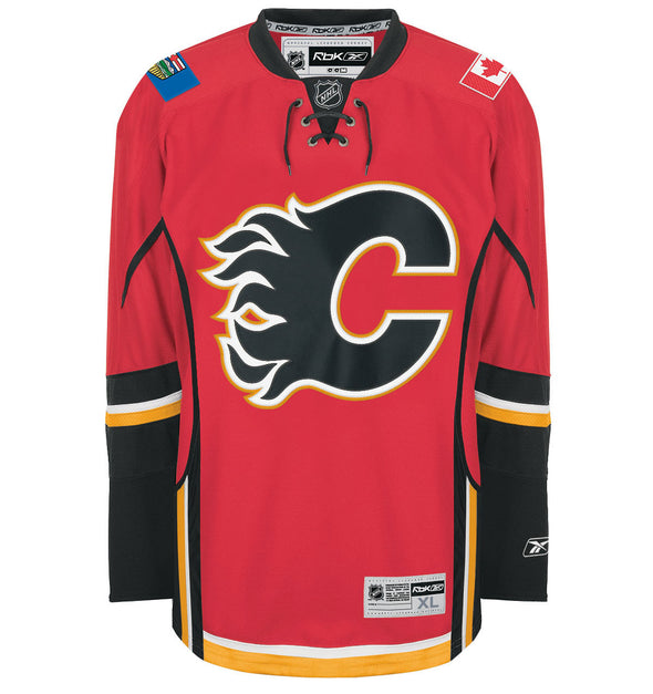 "ALTERNATE ""A"" OFFICIAL PATCH FOR CALGARY FLAMES HOME 2003-16 JERSEY - Hockey Authentic"